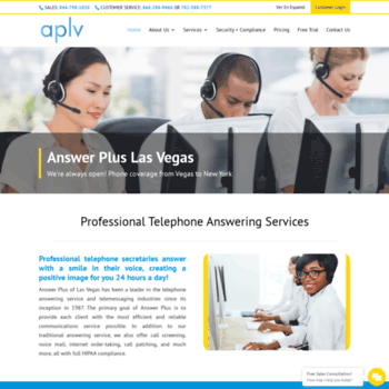 aplv com at WI  Answering Service & Virtual Receptionist Solutions