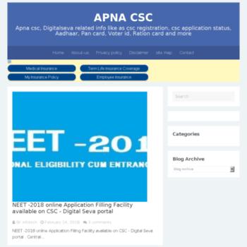 apna-csc com at Website Informer  APNA CSC  Visit APNA CSC