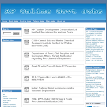 Aponlinegovjobs.in thumbnail