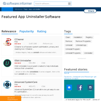 App-uninstaller.software.informer.com thumbnail