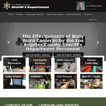 app4 lasd org at WI  Los Angeles County Sheriff's Department