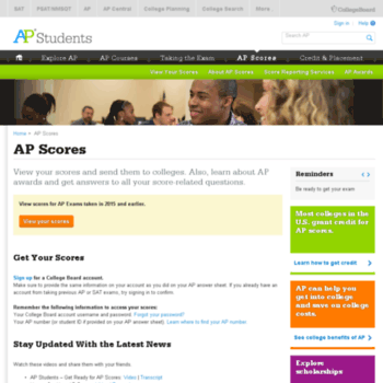 apscore org at WI  View Your Scores on AP Exams – The