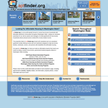 aptfinder org at WI  aptfinder | Low Income Housing at