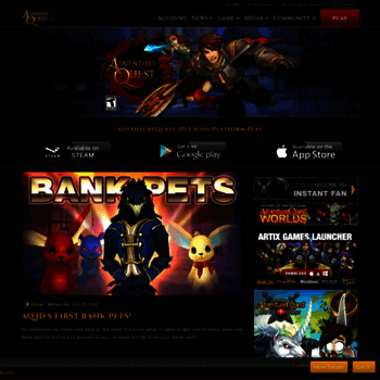 aq3d com at WI  Adventure Quest 3D, Cross-Platform MMORPG - Play on