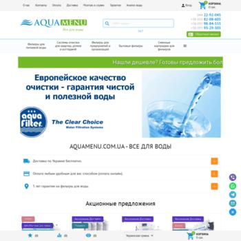 Aquamenu.com.ua thumbnail