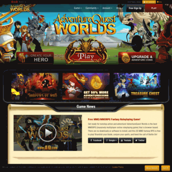 aqworlds com at WI  Adventure Quest Worlds - Free Fantasy