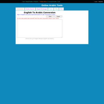 arabic changathi com at WI  Online Arabic Converter