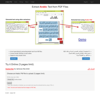 arabicpdf com at WI  Extract Arabic Text from Pdf Files (Free Arabic