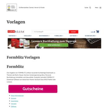 arbeitsplatzbeschreibungen.info at WI. Vorlagen | Grössen