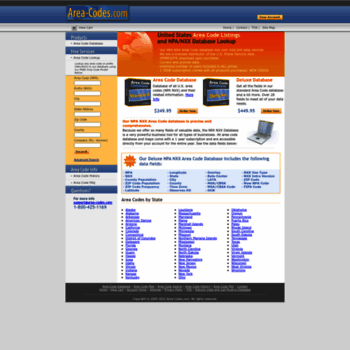 area-codes com at WI  NPA NXX Area Code Database List Directory with