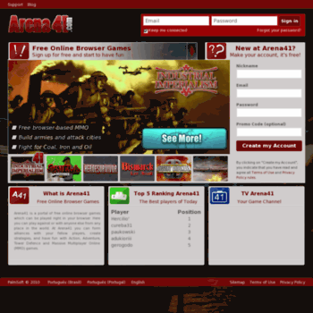 arena41 com at WI  Arena41 - Free Online Browser Games - Strategy
