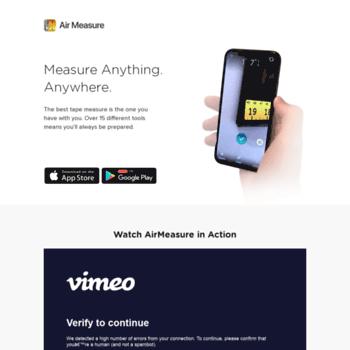 armeasure com at WI  AirMeasure - The Best AR Tape Measure