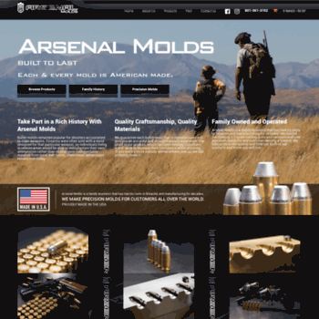 arsenalmolds com at WI  Precision Molds