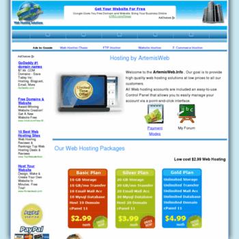 Artemisweb.info thumbnail