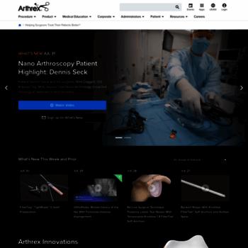 arthrex com at WI  Arthrex - Helping Surgeons Treat Their