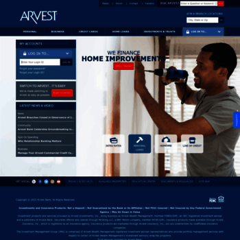 arvest com at WI  Arvest Bank - Banking, Investments, Mortgage Loans