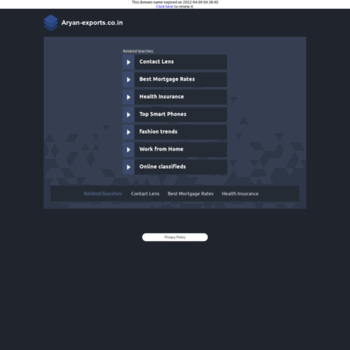 Aryan-exports.co.in thumbnail