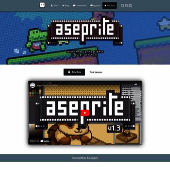 aseprite org at WI  Aseprite - Animated sprite editor & pixel art tool