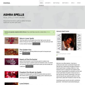 ashraspells com at WI  Best Spell Casters Love Spells and