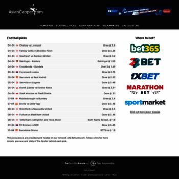 asiancapper com at WI  AsianCapper com :: Asian Handicap bookmakers