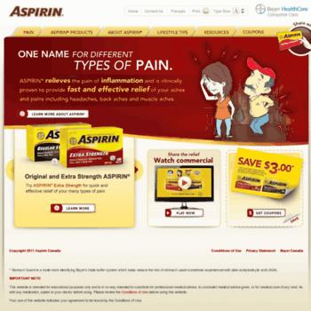 Aspirinpayitforward.ca thumbnail