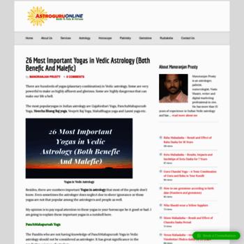 astroguruonline com at WI  Horoscope - Vedic Astrology - Free Online