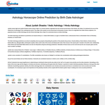 astrolika com at WI  Free Indian Vedic Astrology Horoscope Report