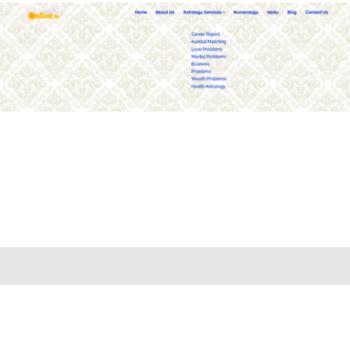 astrologeronline in at WI  Indian Vedic Astrologer Online