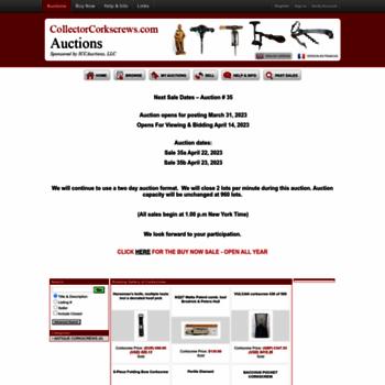 Auction.collectorcorkscrews.com thumbnail