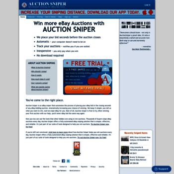 Ebay Bid Sniper >> Auctionsniper Com At Wi Auction Sniper Ebay Sniper And Ebay
