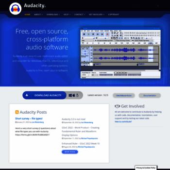 audacitystore com at WI  Audacity ® | Free, open source