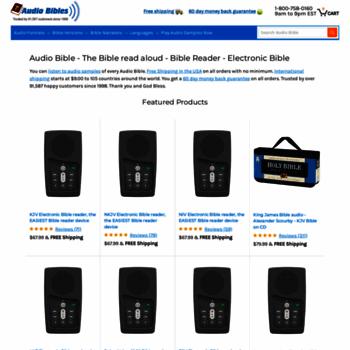 audiobible com at WI  Audio Bible reading, KJV, NKJV, NIV, NASB