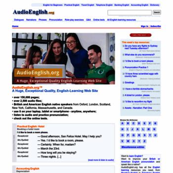 Audioenglish.org thumbnail