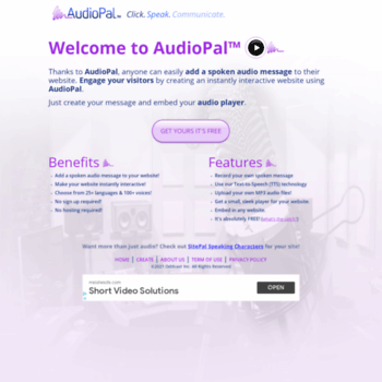 audiopal com at WI  Free internet audio mp3 player for