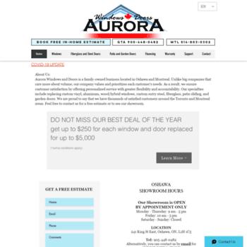 Aurorawindows.ca thumbnail