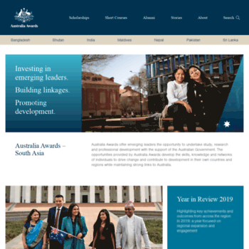 australiaawardssouthwestasia org at WI  Australia Awards
