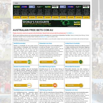 australianfreebets com au at WI  Australian Free Bets | Bonus Bets