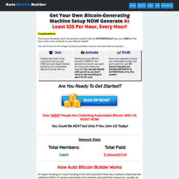 autobitcoinbuilder com at WI  Get Paid Automatic Bitcoin Income