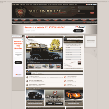 autofinderuae com at WI  dubai used cars & motorbikes, for sale