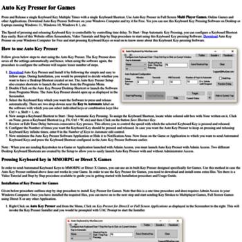 autokeypresser com at WI  Auto Key Presser