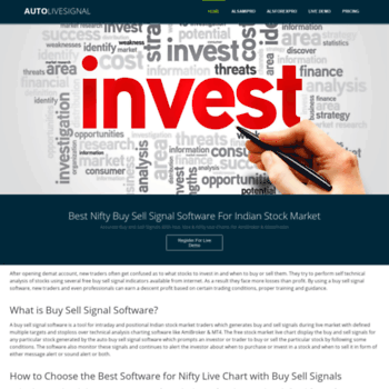 autolivesignal com at WI  Best Intraday Trading Buy Sell