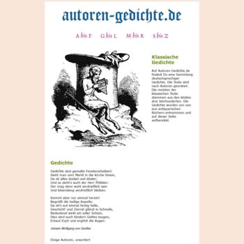 Autoren-gedichte.de thumbnail