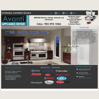 Avantiappliancerepair.ca thumbnail
