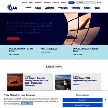 Aviationreg.ie thumbnail