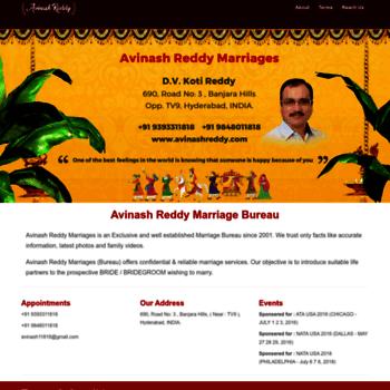 avinashreddy com at WI  Best Reddy Marriage bureau is www