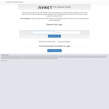 avnet-xfer avnet com at WI  Home | Avnet File Transfer Utility