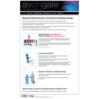 avongale com at WI  MAIDSTONE WEBSITE DESIGN KENT eCommerce