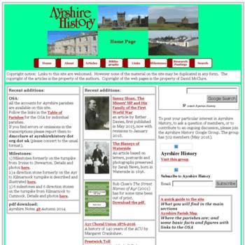 Ayrshirehistory.org.uk thumbnail