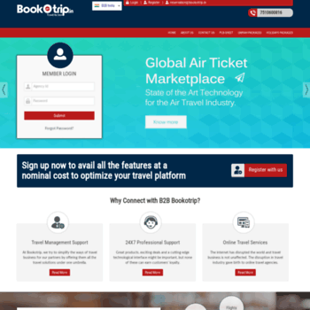 b2b bookotrip in at WI  BookoTrip - Online Travel Agency, White