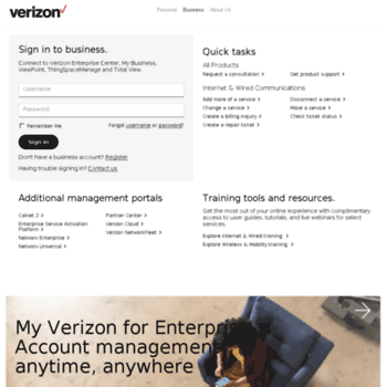 b2b verizonwireless com at WI  Verizon business account login
